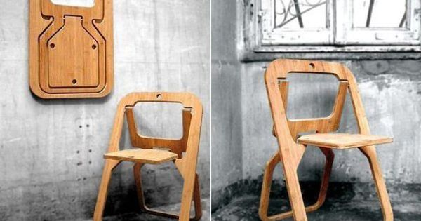 Wooden Folding Chair Creative Ideas For Home Interior Design Home Decor Sitting Seating Space Saving Inspiration Fun Pinterest 25 Creative