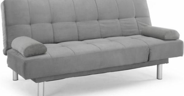 Lifestyles Dallas Convertible Sofa Tufted Dark Grey Microfiber Ccdlss3m2dg Lifestyle Solutions With Images Diy Futon Futon Leather Futon