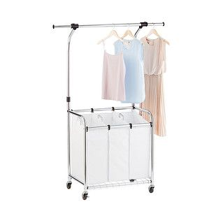 Chrome 3 Bin Premium Laundry Center With Wheels With Images