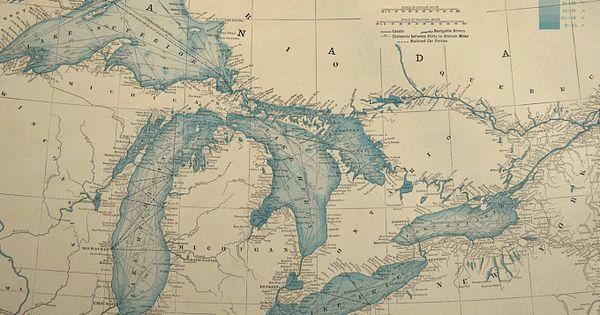 Lake Superior 1909 Nautical Chart Map Poster