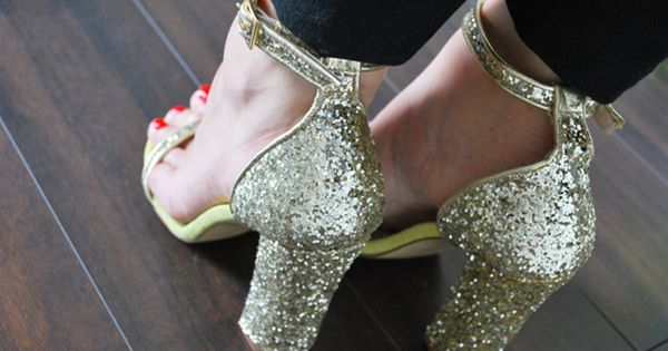 glittering heels