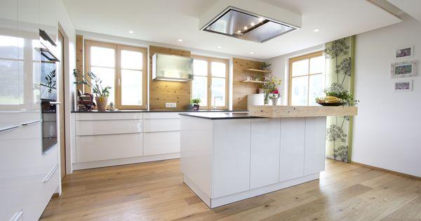 k che wei hochglanz eichenboden elemente aus altholz deckenl fter k che pinterest. Black Bedroom Furniture Sets. Home Design Ideas
