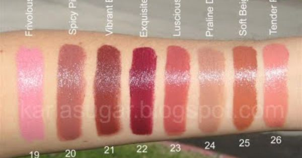 YSL, Yves Saint Laurent, Rouge Volupte, swatches ...