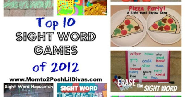 Sight word games for reading groups