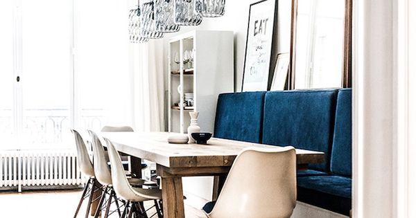 A renovated parisian apartment eetkamer herenhuis en keuken - Trendy deco eetkamer ...