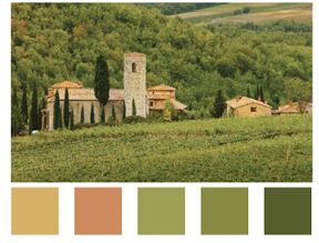 Analogous Color Schemes Tuscan Colors Bedroom Colour Warm Decorating