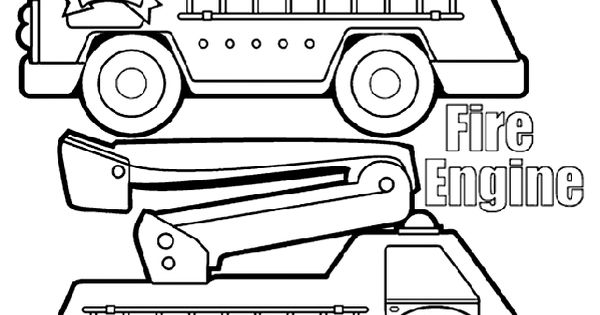 Fire Engine Box Coloring Page From Crayola Print And