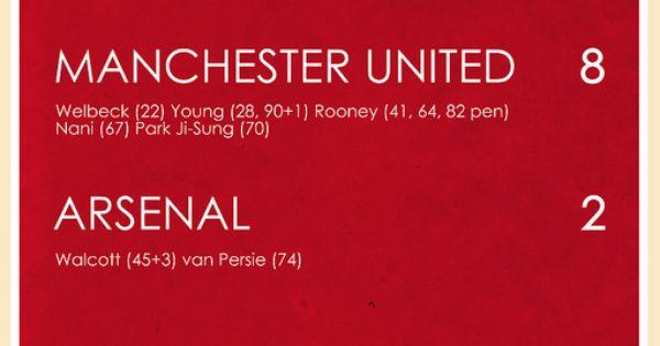Manchester United 8 2 Arsenal Manchester United Manchester Manchester United Football Club