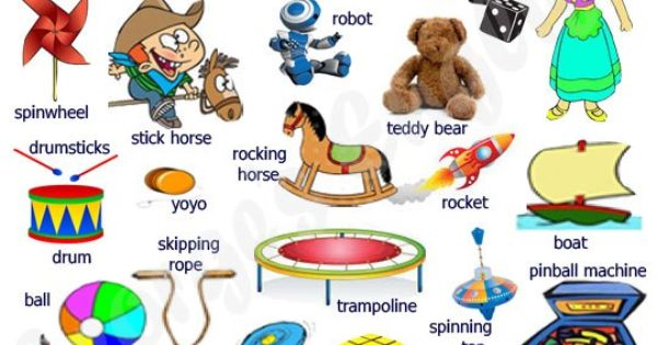 Toy Vocabulary Game : English vocabulary toys and games