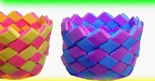 Cara Membuat Anyaman Kertas Kerajinan Tangan Kreatif