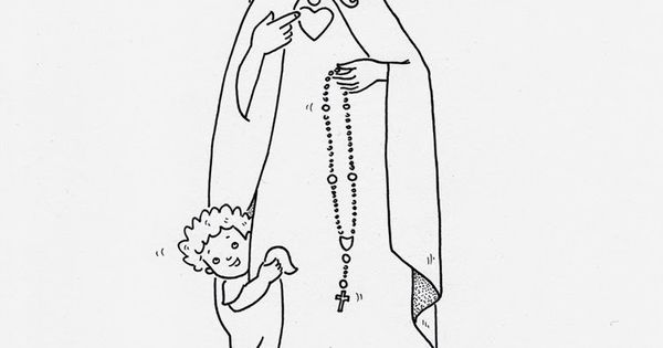 the queen of rosary coloring sheet faith pinterest. Black Bedroom Furniture Sets. Home Design Ideas