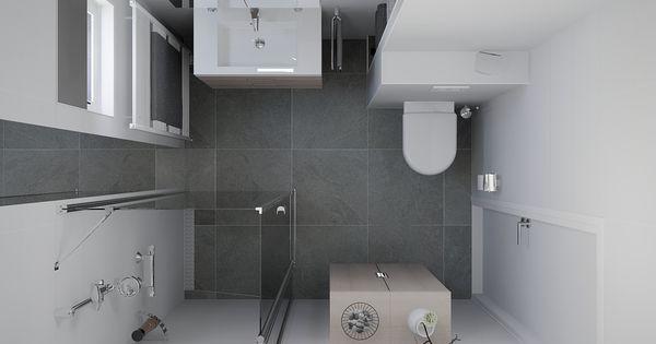 Kleine badkamer met handdoek nisjes achter de wc uw webshop voor sanitair for Plan kleine badkamer