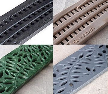 Nds Plastic Mini Channel Deco Grate Options Trench Drain Drainage Solutions Trench Drain Systems