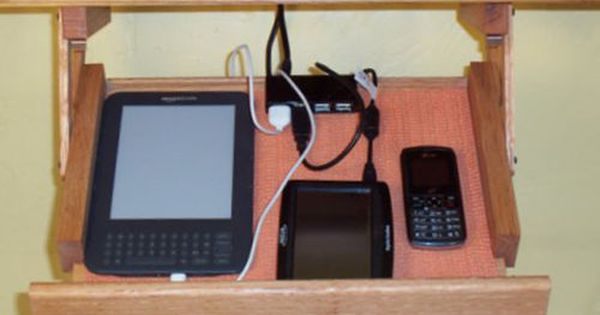 Kitchen Under Cabinet Storage For Phones Tablets Solid Wood Charging Station Charging Station Under Cabinet Storage Instagram Iphone Case