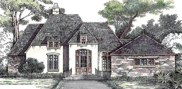 One Story Style House Plan 97502 With 4 Bed 3 Bath 2 Car Garage French Country House French House Plans Acadian House Plans