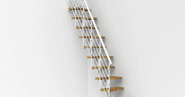 Arke oak30 xtra 22 in white modular staircase kit for Loft kits home depot