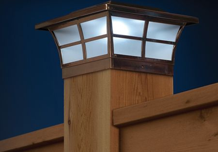 Prestige Solar Post Cap Light Copper For 4x4 Posts 51 Each Solar Lamp Post Solar Post Caps Post Lights
