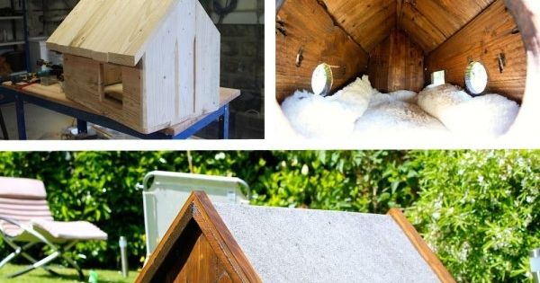 cabane niche abris chat 39 d coration pinterest refuges cabanes et chats. Black Bedroom Furniture Sets. Home Design Ideas