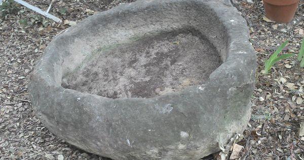 D tails sur immense ancien vier pierre taill e vasque bac pile auge jardini re d co jardin d co for Jardiniere vasque jardin