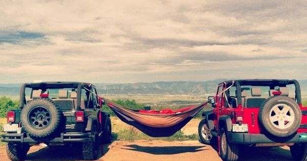 Jeeps + hammock + summer + view. Everything about this picture is