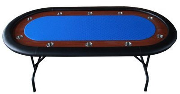 10 Players 96 Texas Hold Em Folding Legs Poker Table Blue By Ids 328 99 Table Comes Fully Assembled Table Size 96 X42 X30 Poker Table Texas Holdem Poker