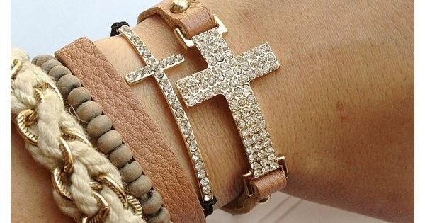 Crystal Cross Wrap bracelet gold rings necklace Jewelry| http://jewelry291.blogspot.com