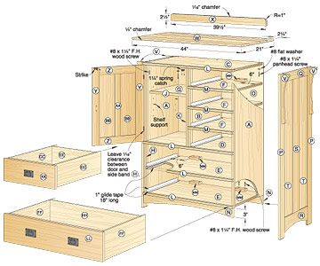 Crafts Dresser Woodworking Plan