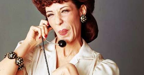 """Lily Tomlin: """"One ringy dingy, two ringy dingy"""" on Laugh In. I"""