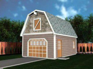 Barn Garage Plans 16x20 With Attic Storage In 2019 Garage