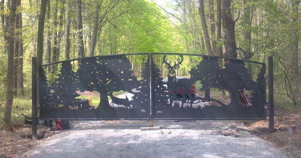 Driveway Gates Designs Deer Gates Metal Art Entrance