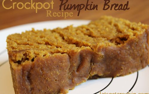 Crockpot Pumpkin Bread. Imagine how your house must smell while this is