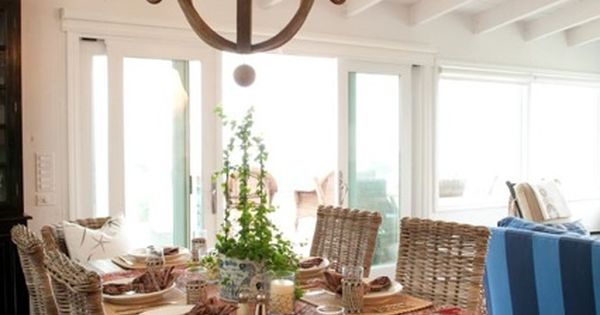 Beach house: love the wicker chairs (Janette Mallory designer)
