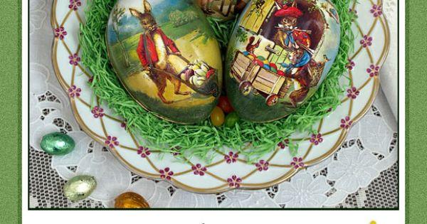 Papier-mâché Easter eggs at D. Blümchen & Company.