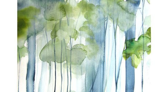 "New watercolor from Mai Autumn - ""New Growth"""