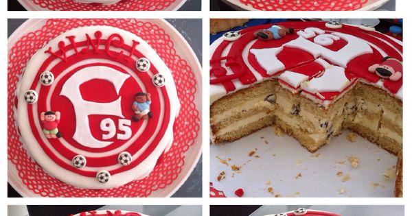 fortuna d sseldorf fondant torte biskuit gef llt mit vanille buttercreme und schoko st ckchen. Black Bedroom Furniture Sets. Home Design Ideas