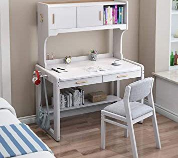 Children/'S Study Desks Boy and Girl Storage Drawer Bookshelves with Student Writing Desks, Height-Adjustable Children/'S Desks and Chairs Sets Children/'S Desks with Lights