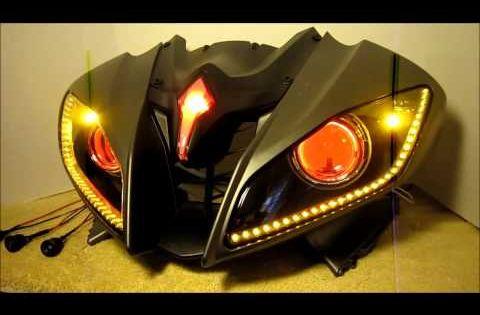 13 2006 2013 Yamaha R6 Hid Projector Headlights Bixenon