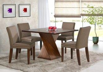 Mesa Para Sala De Jantar Com 4 Cadeiras De Madeira Mesa Sala De