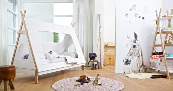 girlystan des lits cabane maison ou tipi pour la chambre. Black Bedroom Furniture Sets. Home Design Ideas