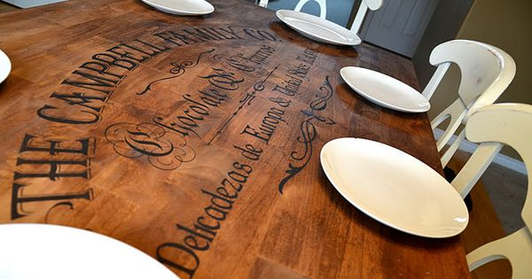 Awesome kitchen table redo! I totally had something like this in mind