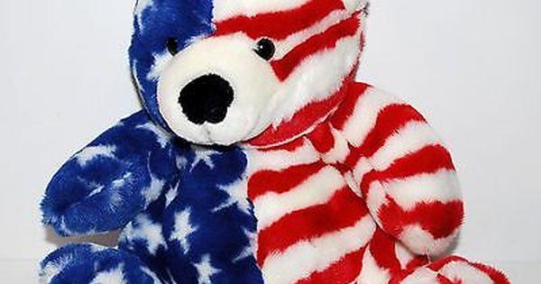 American Flag Teddy Bear La Dodgers Plush 9 5 Fiesta Genuine Merchandise Mlb Teddy Bear Teddy Tri