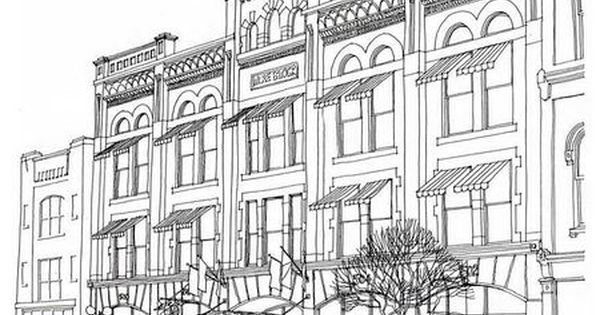 street scene coloring pages - photo#10