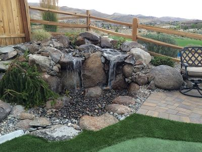 One Of The Many Water Features That We Can Design And Install To Make Your Outdoor Living Experience More Landscape Design Building Design Outdoor Landscaping
