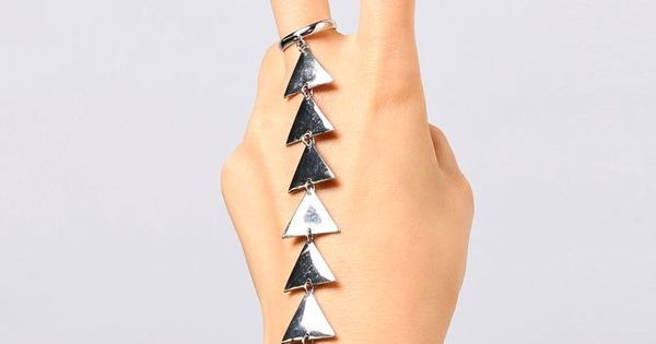 Triangle Ring Hand Chain cuff bracelet