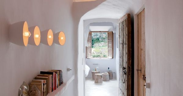 not your usual white walls and wooden shelves
