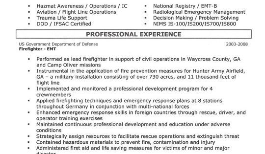 Firefighter Resume Example Currículum, Plantillas y Bomberos - emergency management resume
