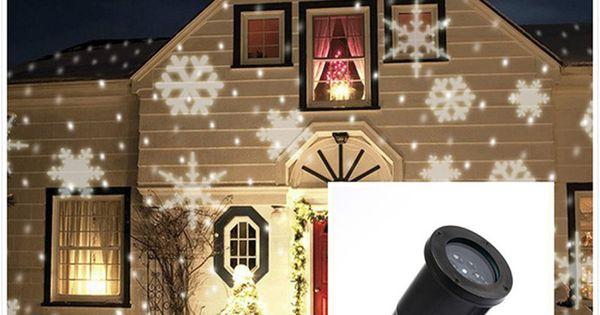 wasserdichte moving schnee laser projektor lampen schneeflocke led b hne licht f r weihnachten. Black Bedroom Furniture Sets. Home Design Ideas