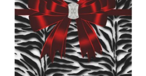 Red Black Zebra All Occasion Personalized Invites from ...