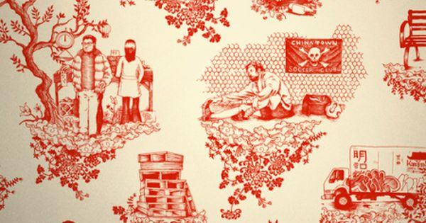 Urban Patterns By Dan Funderburgh Toile Wallpaper Wallpaper Pattern Wallpaper