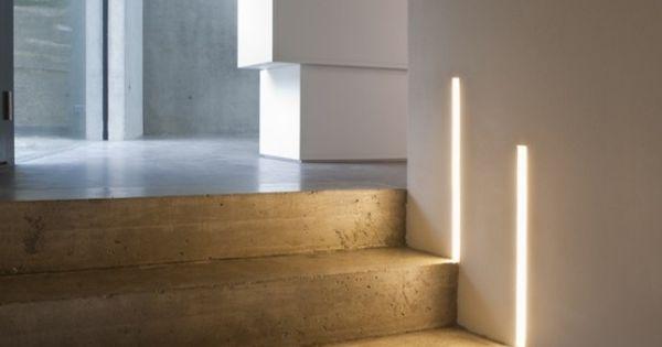 Ba ador de pared luces integradas pinterest ba ador - Luces para escalera ...